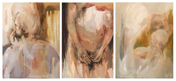 I am present (tríptico), 80cm x 180cm, 2015.