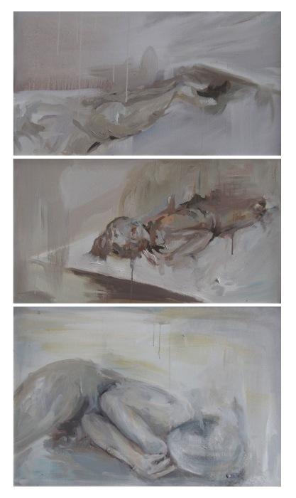 Absent (tríptico), 160cm x 90cm, 2015.